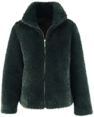 Fabulous Furs Essential Zip Jacket in Evergreen Size 2X
