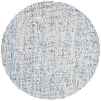 Safavieh Abstract Collection ABT468 Rug, Dark Blue/Rust, 6' Round