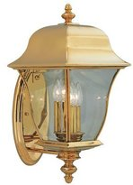 "Designers Fountain 1552-PVD-PB Gladiator 10"" Wall Lantern Solid Brass"