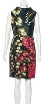 Vera Wang Printed Sleeveless Dress