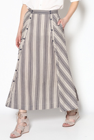 BB Dakota Striped Midi Skirt