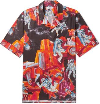 Valentino Oversized Camp-Collar Printed Cotton Shirt - Men