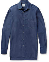 Paul Smith Oversized Triple-Stitched Denim Shirt