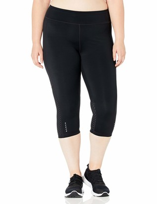 "Core 10 Amazon Brand Women's 'Build Your Own' Flashflex Run Capri Legging - 21"" (XS-XL Plus Size 1X-3X)"