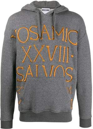 Moschino Roman embroidery knitted hoodie
