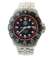 Tag Heuer Formula 1 374.513 Stainless Steel with Black Dial Vintage 37mm Mens Watch