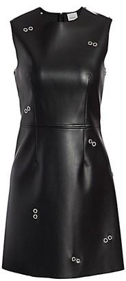 Burberry Coleta Faux Leather Grommet Dress