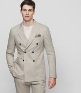 Reiss Reiss Paulo B - Slim-fit Blazer In Brown, Mens