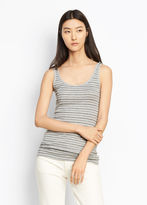 Vince Double Stripe Scoop Neck Tank