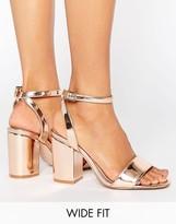 Asos HERON Wide Fit Heeled Sandals