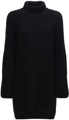 The Row Wool Ribbed Knit Turtleneck Sweater