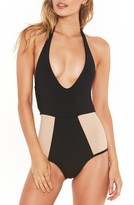 L-Space Women's L Space Fireside Halter One-Piece Swimsuit