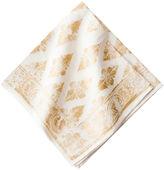Juliska Florentine Gypsy Napkin, Gold/White