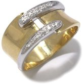 Tatitoto Vintage Women's Ring in 18k Gold with Diamond H/SI (total diamonds 0.06 ct), Size 6.5, 7.2 Grams