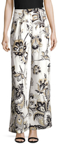 Carolina Herrera Silk Printed Wide Leg Pant