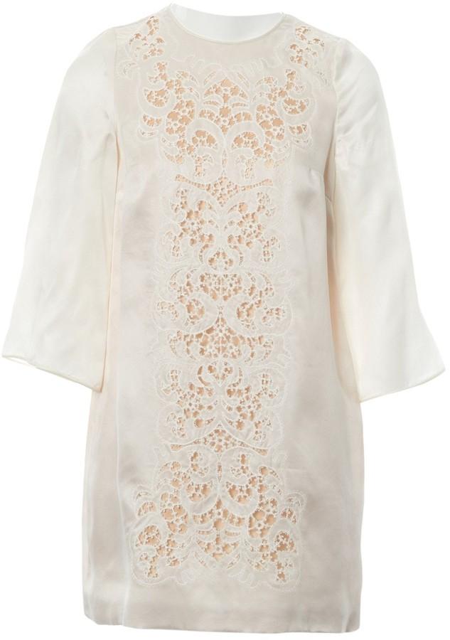 Dolce & Gabbana Ecru Silk Dresses