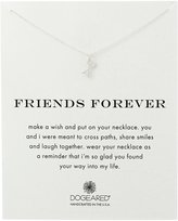 Dogeared Sterling Friends Forever Pendant Necklace