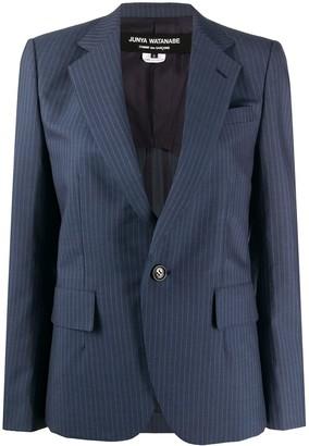 Junya Watanabe Pinstripe Long Sleeve Blazer