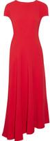 Marni Asymmetric Stretch-crepe Midi Dress - Red