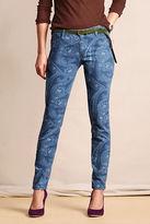 Lands' End Canvas Women's Super Skinny Patterned Pant