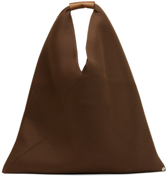 MM6 MAISON MARGIELA Brown Mesh Triangle Tote