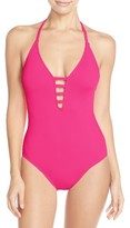 LaBlanca Women's La Blanca Caged Strap One-Piece Swimsuit