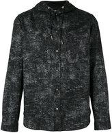 Christian Dior drawstring hood buttoned shirt