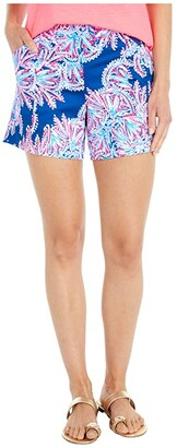 Lilly Pulitzer Arabeth Stretch Shorts (Oyster Bay Blue Miss Shell) Women's Shorts