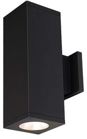 W.A.C. Lighting Cube Architectural 2-Light LED Outdoor Armed Sconce Fixture Finish: Black