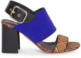 Dries Van Noten Beaded & Woven Ankle Sandals