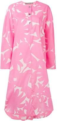 Marni floral print shirt dress