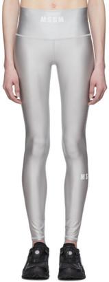 MSGM Grey Logo Leggings