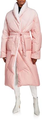 KHRISJOY Long Puffer-Coat Robe