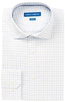 Vince Camuto Crystal Blue Windowpane Slim Fit Dress Shirt