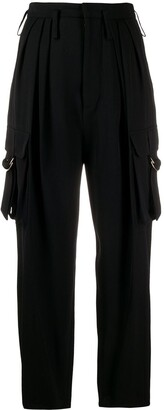 Balmain Utility Pockets High-Waisted Trousers