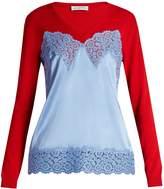 Altuzarra Palomar cami-overlay sweater