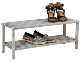 Honey-Can-Do 2-Shelf Shoe Rack, Gray