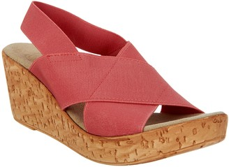 Charleston Shoe Co. Stretch Wedge Sandals - Med