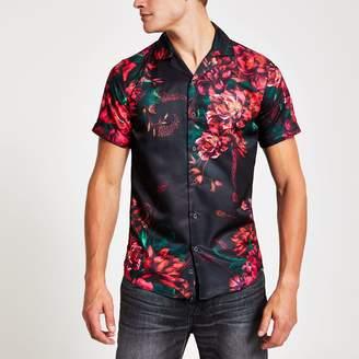 Criminal Damage Mens River Island floral regular fit shirt