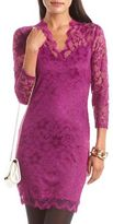 Charlotte Russe Scalloped Lace Body-Con Dress