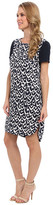 DKNY DKNYC S/S Tunic Dress w/ Tech Crepe Sleeves