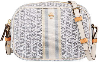 Tory Burch Mini Gemini Link Canvas Crossbody Camera Bag