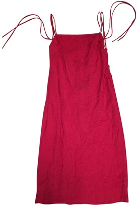 Gianni Versace Red Cotton - elasthane Dress for Women Vintage