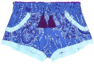 Poupette St Barth Kids Lulu lace-trimmed shorts