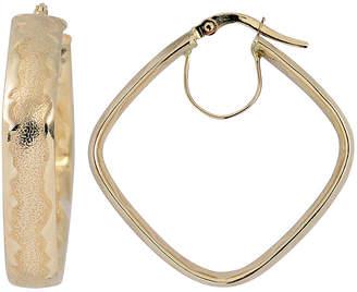 10k Italian Gold 10K Italian Gold Square Hoop Earrings