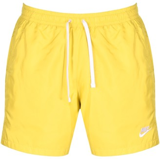 Nike Flow Logo Swim Shorts Yellow