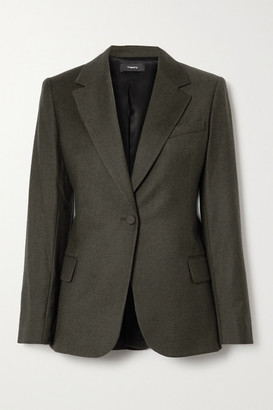 Theory Wool Blazer - Dark brown