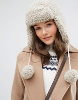 Jack Wills Bramsby Faux Shearling Trapper Hat