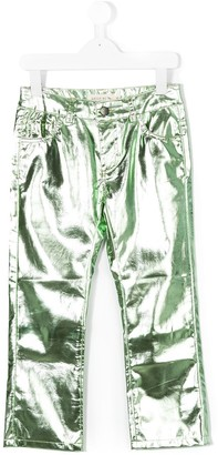 Andorine Metallic Cropped Trousers