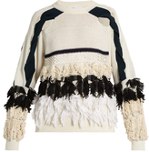 Toga Fringed cotton-blend sweater